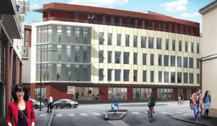 Proj ection du nouveau siège social d'Unyc au Mans (Sarthe)