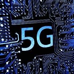 5G au milieu d'un circuit electronique