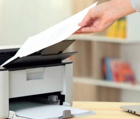 documents imprimés sur une imprimante personnelle