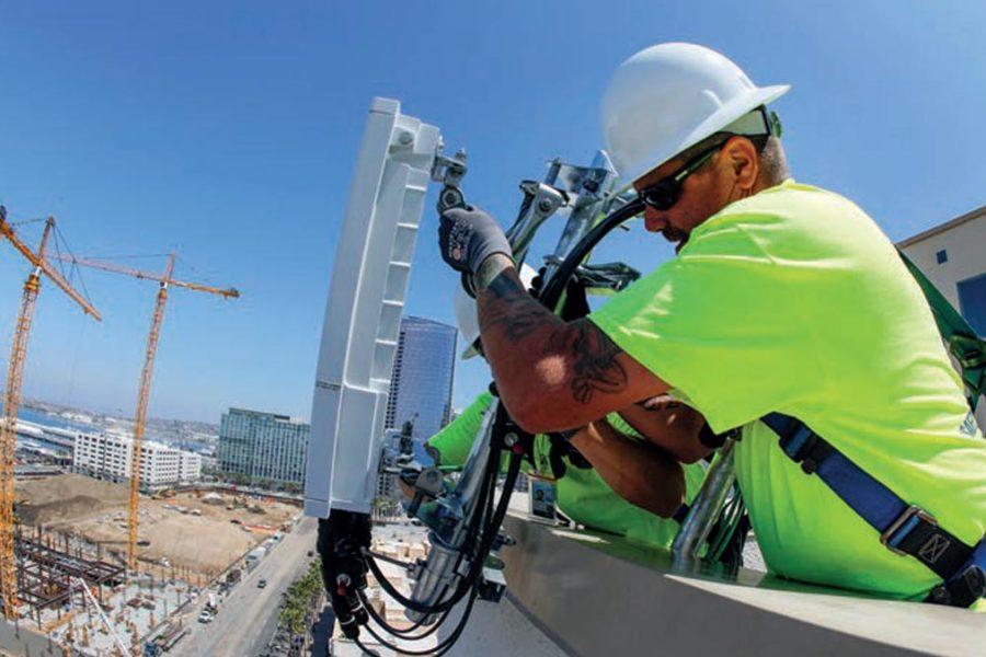 Travaux - connexion antenne telecom