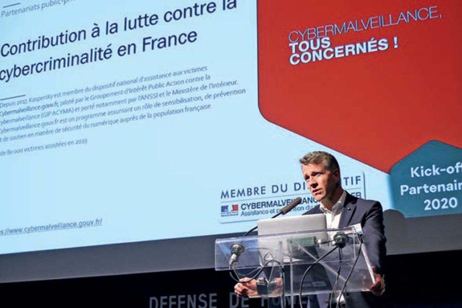 Tanguy de Coatpont lors du Kick-off Partenaires Kaspersky France 2020