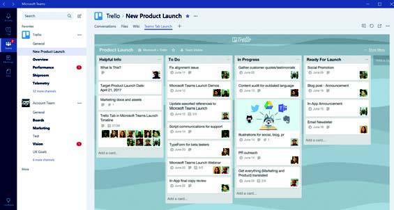 écran Microsoft Teams