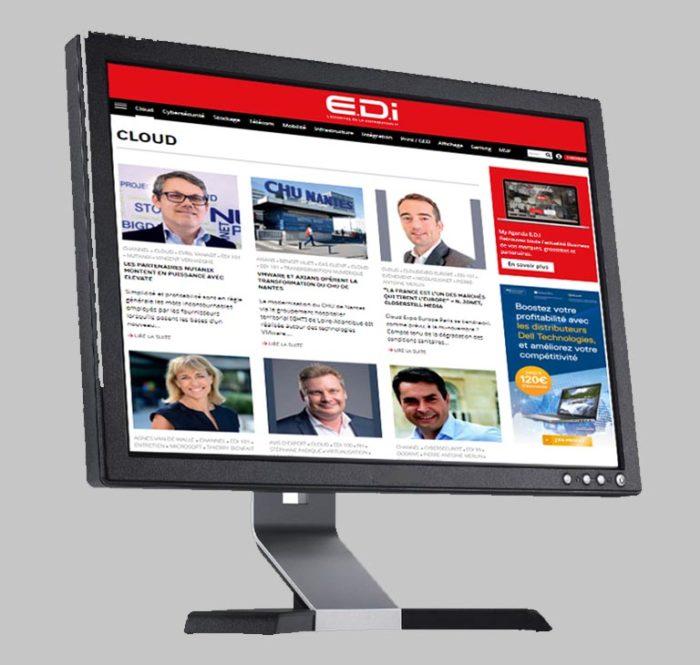 Image écran site web Magazine E.D.I