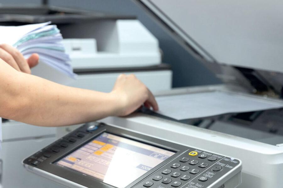 Mise en place d'une page sur un copieur numérique