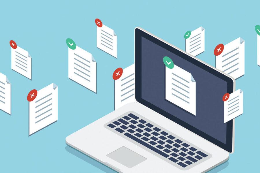 Pictogramme documents électroniques